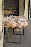 Kaak and Various Bread in Tripoli, Lebanon. Display of various types of bread and kaak of a traditional bakery in Tripoli, Lebanon Royalty Free Stock Photography