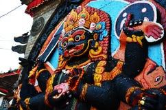 Kaal Bhairav在Basantapur Durbar广场在加德满都尼泊尔 图库摄影