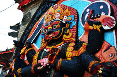 Kaal Bhairav in Basantapur Durbar Square at Kathmandu Nepal Stock Photography