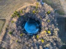 Kaali meteorytu główny krater w saaremaa Estonia Zdjęcia Stock