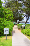 Kaanapali beach boardwalk Royalty Free Stock Photos