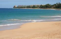 Kaanapali Beach on Maui Hawaii. Coastline and Kaanapali beach on the tropical island of Maui Hawaii Stock Images