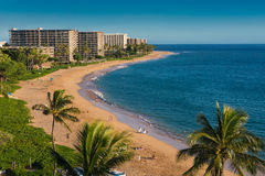 Kaanapali Beach. In Maui, Hawaii stock photo