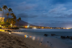 KAANAPALI Beach, Maui, Hawaii. Kaanapali beach in Maui, Hawaii, at night royalty free stock image