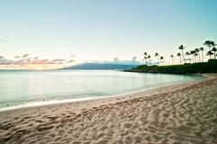 Kaanapali beach in West Maui, Hawaii. Kaanapali Beach, famous tourist destination in Maui, Hawaii stock photography