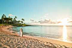 Kaanapali beach in West Maui, Hawaii Stock Photography