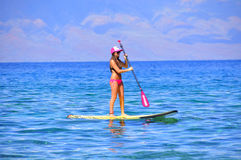 kaanapali Maui της Χαβάης surfer Στοκ φωτογραφίες με δικαίωμα ελεύθερης χρήσης