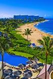 kaanapali Maui della spiaggia fotografia stock
