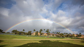 Kaanapali Maui tęcza obrazy royalty free
