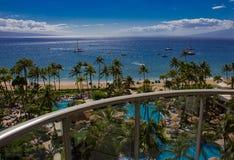 Kaanapali strand i Maui arkivbilder
