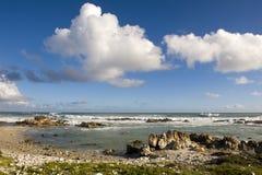 Kaap Agulhas, Zuid-Afrika. Stock Foto's