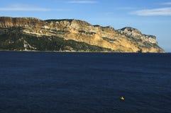 Kaap Canaille dichtbij Cassissen, Frankrijk Stock Fotografie