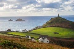 Kaap Cornwall Engeland het UK Royalty-vrije Stock Foto's