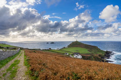 Kaap Cornwall Engeland het UK Stock Afbeelding
