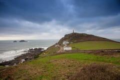 Kaap Cornwall st enkel, West-cornwall, het UK stock afbeeldingen