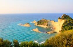 Kaap Drastis, Korfu, Griekenland Stock Afbeeldingen