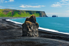 Kaap Dyrholaey Royalty-vrije Stock Foto's