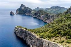 Kaap Formentor in Mallorca, Baleaars eiland, Spanje Stock Afbeeldingen