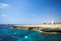 Kaap Greco of Cavo Greco, Agia Napa Stock Afbeeldingen