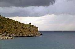 Kaap Palinuro, Italië Royalty-vrije Stock Afbeeldingen