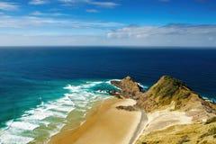 Kaap Reinga, het noordenrand van Nieuw Zeeland royalty-vrije stock afbeelding