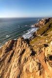 Kaap Roca, de meest westelijke omvang van continentaal Europa stock foto's