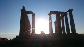 Kaap Sounion Royalty-vrije Stock Fotografie