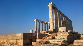 Kaap Sounion Royalty-vrije Stock Foto's