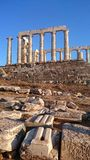 Kaap Sounion Stock Fotografie
