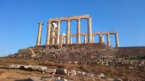 Kaap Sounion Royalty-vrije Stock Foto