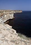 Kaap Tarhankut in de Krim Stock Afbeeldingen