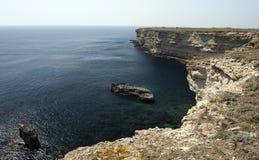 Kaap Tarhankut in de Krim Stock Fotografie