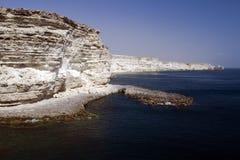 Kaap Tarhankut in de Krim Stock Foto's