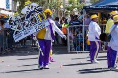 Kaapse Klopse, de parade Cape Town van de Nieuwjaarstraat royalty-vrije stock foto's