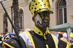 Kaapse Klopse. This year 75 spectacular groups comprising 40 000 minstrels  participate in the annual street parade.The event attracts the entire communities Royalty Free Stock Photo
