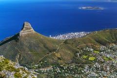 Kaapstad and Lion`s Head Stock Photo