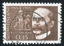 Kaarlo Juho Stahlberg. FINLAND - CIRCA 1965: stamp printed by Finland, shows President Kaarlo Juho Stahlberg, circa 1965 Royalty Free Stock Image