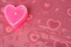 Kaars in de vorm van hart Stock Afbeelding
