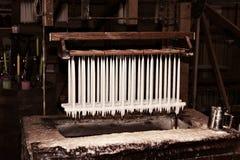 Kaars die fabriek maakt Stock Afbeelding