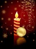 Kaars en de bal van Kerstmis royalty-vrije illustratie