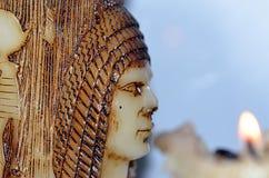 Kaars; faraohulp op het stock foto's