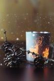 Kaars in glassparappel Royalty-vrije Stock Fotografie