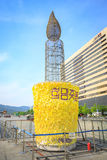 Kaars lichte demonstratie tegen voorzitter Park geun-Hye bij Th Royalty-vrije Stock Foto's