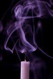 Kaars met rook Royalty-vrije Stock Afbeelding