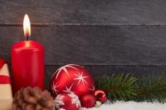 Kaars voor Kerstmis of komst royalty-vrije stock afbeelding