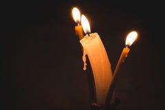 3 kaarsen Stock Afbeeldingen