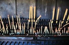 Kaarsen bij het heiligdom van Fatima Stock Fotografie
