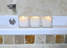 Kaarsen bij spa2 Royalty-vrije Stock Foto's