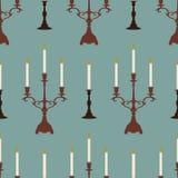 Kaarsen blauw patroon vector illustratie