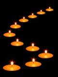 Kaarsen in dark Royalty-vrije Stock Afbeelding